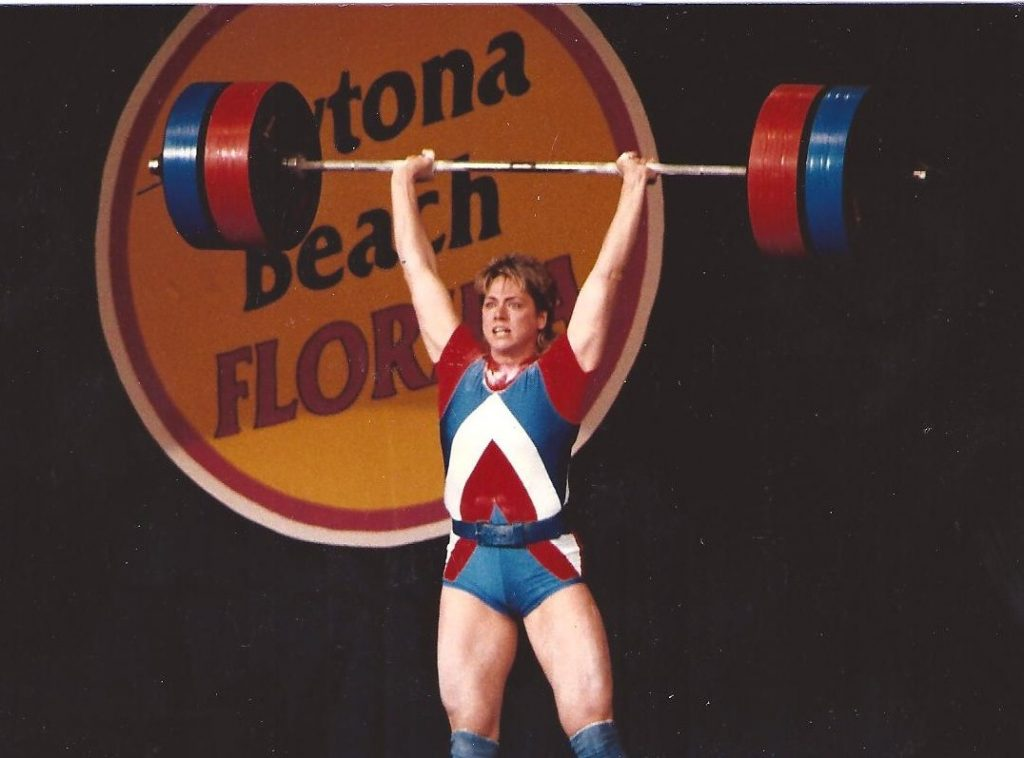 Karyn_Marshall_lifting_barbells_1987_weightlifting_championship_Daytona_Beach